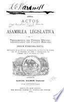 1884. Actos de la Asamblea Legislativa del Territorio de Nuevo Mejico, sesion vigesima-sexta