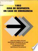 1993 guia de respuesta en caso de emergencia