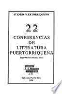 22 conferencias de literatura puertorriqueña