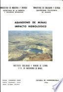 Abandono de minas impacto hidrologico