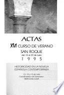 Actas, XVI Curso de Verano San Roque