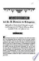 Alocucion del Sr. D. Dionisio de Echegaray, gefe politico de la provincia de Santander, con motivo de la inauguracion de la Caja de Ahorros y Monte de piedad, el día 21 de Agosto de 1842
