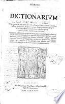 Ambrosii Calepini Dictionarum octo linguarum