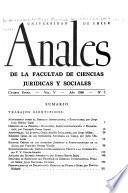 Anales de la facultad de ciencias juridicas y sociales