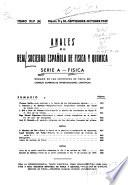 Anales de la Real Sociedad Española de Física y Química