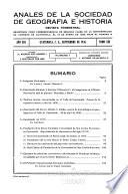 Anales de la Sociedad de Geografía e Historia