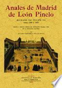 Anales de Madrid de León Pinelo