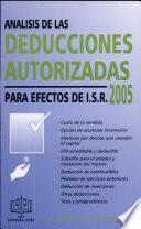 Análisis Deducciones Autorizadas para Efectos ISR
