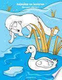Animales en invierno libro para colorear 1