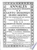 Annales de la sagrada Religion de S. Domingo