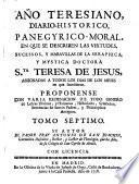 Año teresiano diario histórico en que se describen las virtudes de Santa Teresa de Jesús