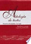 Antología de textos (Cartoné)