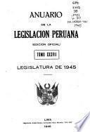 Anuario de la legislación peruana