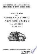 Anuario del Observatorio Astronómico de Madrid