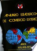 Anuario estadístico de comercio exterior