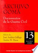 Archivo Gomá. Documentos de la Guerra Civil