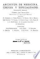 Archivos de medicina, cirugía y especialidades