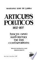 Artículos políticos 1832-1837