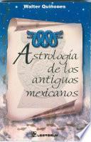Astrología de los antiguos mexicanos