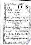Autos sacramen[tales], historiales y aleg[oricos]