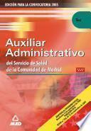 Auxiliares Administrativos Del Servicio de Salud de la Comunidad de Madrid. Test