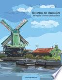 Bocetos de ciudades libro para colorear para adultos 1
