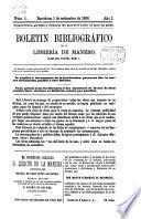 Boletin bibliográfico de la libreria de Manero