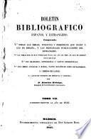 Boletin bibliografico español y estrangero