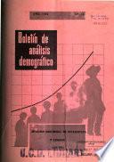 Boletín de análisis demográfico