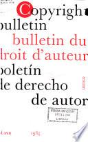 Boletín de Derecho de Autor