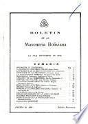 Boletín de la Masonería Boliviana