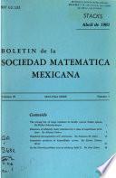 Boletín de la Sociedad Matemática Mexicana