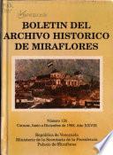 Boletín del Archivo Histórico de Miraflores