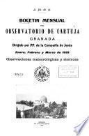 Boletin mensual del Observatorio de Cartuja