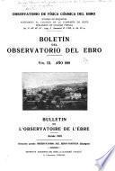 Boletín mensual del Observatorio del Ebro