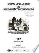 Boletín nicaragüense de bibliografía y documentación