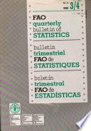 Bulletin Trimestriel FAO de Statistiques