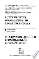 Butterworths Spanish/English Legal Dictionary: English-Spanish