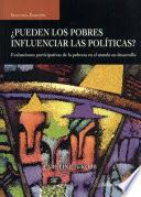 Can the Poor influence Policy? (Spanish)