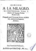 Cancion a la milagrosa conversion, vida y muerte del Egregio Doctor Ramon Lull