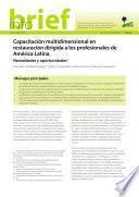 Capacitación multidimensional en restauración dirigida a los profesionales de América Latina