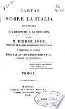 Cartas sobre la Italia considerada con respecto a la religión
