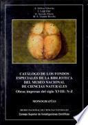 Catalogo de los fondos especiales de la Biblioteca del Museo Nacional de Ciencias naturales