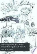 Catálogo general de la botica central homeopática de José A. Fontela