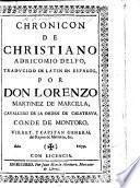 Chronicon ... traducido de Latin en Español, por Don L. Martinez de Marcilla