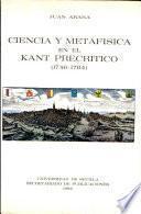 Ciencia y metafísica en el Kant precrítico (1746-1764)