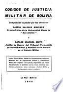 Códigos de justicia militar de Bolivia