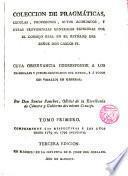 Colección de Pragmáticas... de Carlos IV