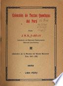 Colección de textos quechaus del Perú