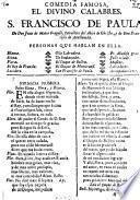 Comedia Famosa, El Divino Calabres, S. Francisco De Paula
